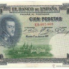 Billetes españoles: BILLETE 100 PESETAS 1925. Lote 53569962