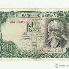 Billetes españoles: 1000 PTAS -17-09-1971 SERIE 6H2447297. Lote 53604251