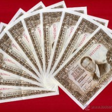 Billetes españoles: LOTE DE 10 BILLETES DE 100 PESETAS 1953 , EBC , SERIE 3V , ORIGINAL , T670. Lote 53634119