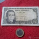 Billetes españoles: ANTIGUO BILLETE BANCO DE ESPAÑA 5 CINCO PESETAS AÑO 1951 SERIE 1L IDEAL COLECCION VER FOTO/S Y DESCR. Lote 53643564