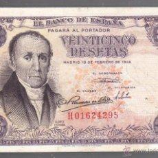 Billetes españoles: BILLETE. ESPAÑA. 25 PESETAS. 1946. FLOREZ ESTRADA. Lote 53724910