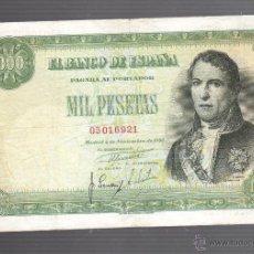 Billetes españoles: BILLETE. ESPAÑA. 1000 PESETAS. 1949. RAMON DE SANTILLAN. VER. Lote 53762880