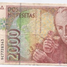 Billetes españoles: 2000 PESETAS-24-04-1992-SERIE ESPACIAL 9C. Lote 53814676