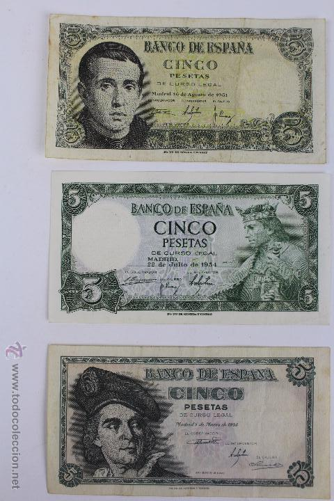 Bil-49  billetes de cinco pesetas  banco de esp - Vendido en