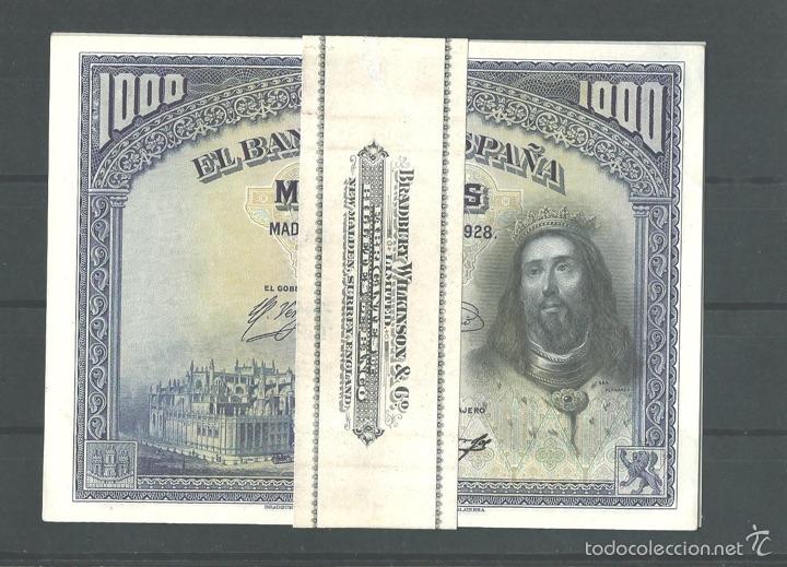 1000 PESETAS 1928 SIN CIRCULAR MUY BONITOS (Numismática - Notafilia - Billetes Españoles)