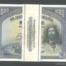 Billetes españoles: 1000 PESETAS 1928 SIN CIRCULAR MUY BONITOS. Lote 100634364
