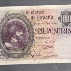 Billetes españoles: BILLETE. 1000 PESETAS. 1940. CARLOS I. SIN SERIE. VER. Lote 54169757