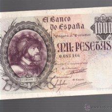 Billetes españoles: BILLETE. 1000 PESETAS. 1940. CARLOS I. SIN SERIE. VER. Lote 54169877
