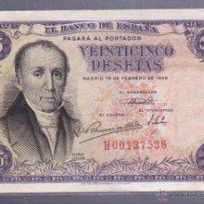 Billetes españoles: BILLETE. 25 PESETAS. 1946. FLOREZ ESTRADA. Lote 54192497