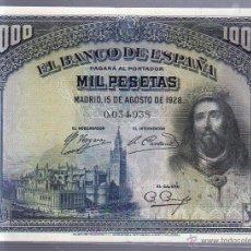 Billetes españoles: BILLETE. 1000 PESETAS. 1928. SAN FERNANDO. SIN SERIE.. Lote 54193096