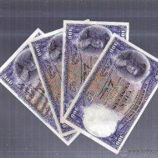 Billetes españoles: LOTE DE 4 BILLETES CORRELATIVOS. 100 PESETAS. 1931. SIN SERIE. VER IMAGEN. Lote 54410068