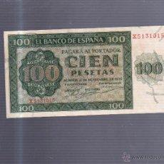 Billetes españoles: BILLETE. 100 PESETAS. BURGOS. 1936. VER IMAGEN. Lote 54410240