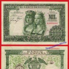 Billetes españoles: 1000 PESETAS 1957 REYES CATÓLICOS SERIE A - EBC. Lote 54762598