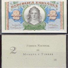Billetes españoles: PAREJA DE 2 PESETAS DE 1938 SERIE A PLANCHA DE TACO REF6436. Lote 55037660