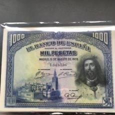 Billetes españoles: 1000 PESETAS DE 1928 EBC PRECIOSO REF 546536. Lote 98482674