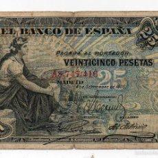 Billetes españoles: 25 PESETAS 24 SEPTIEMBRE 1906. Lote 55224241