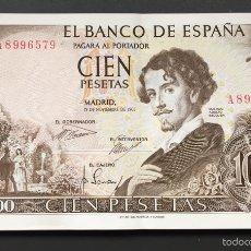 Billetes españoles: PAREJA DE 100 PESETAS DE 1965 SERIE A DE TACO ABARQUILLADO REF64432. Lote 55242024