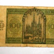 Billetes españoles: BILLETE DE 100 PESETAS - BURGOS - 21 DE NOVIEMBRE DE 1936. Lote 55325475