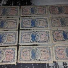 Billetes españoles: LOTE DE 72 BILLETES ESPAÑOLES DE 50 CÉNTIMOS DE PESETA DEL AÑO 1937. Lote 55325580
