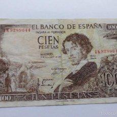 Billetes españoles: 100 PESETAS 1965 MBC. Lote 55396181