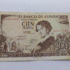 Billetes españoles: 100 PESETAS 1965 MBC+. Lote 55396204
