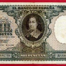 Billetes españoles: BILLETE 1000 PESETAS ENERO 1940 , MBC , SERIE A , T758. Lote 55571125