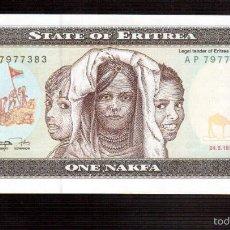 Billetes españoles: BILLETES DE AFRICA ERITREA. Lote 56299782