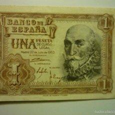 Billetes españoles: BILLETE BANCO ESPAÑA - UNA PESETA 22.7.1953 --BB. Lote 56331907