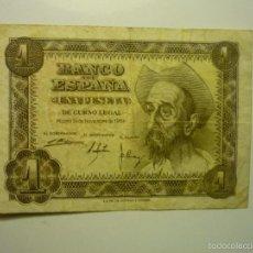 Billetes españoles: BILLETE BANCO ESPAÑA -UNA PESETA 19-11-1951 BB. Lote 56331943