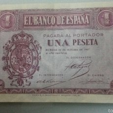 Billetes españoles: 1 PESETA 1937 BURGOS EBC SERIE F. Lote 56379818