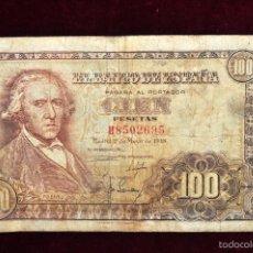Billetes españoles: BILLETE DE 100 PESETAS DEL AÑO 1948. FRANCISCO BAYEU. Lote 56381082