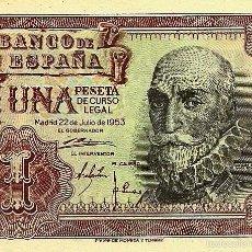 Billetes españoles: BILLETE 1 PESETA, 22/07/1953, MARQUES DE STA CRUZ. Lote 56409518