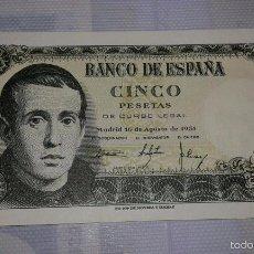 Billetes españoles: BILLETE DE CINCO PESETAS. Lote 30820529