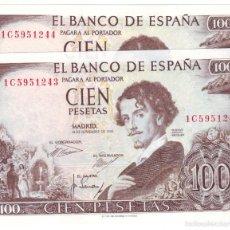 Billetes españoles: ESPAÑA: 100 PESETAS 1965 BECQUER CON SERIE CALIDAD PLANCHA. Lote 117266274