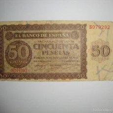 Billetes españoles: 50 PESETAS 1.936 SERIE S. Lote 56805616