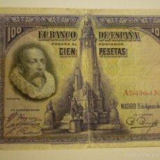Billetes españoles: BILLETES 100 PESETAS AÑO 1928.. Lote 56828913