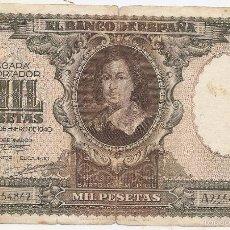 Billets espagnols: 1000 PESETAS DE 1940. Lote 57382934