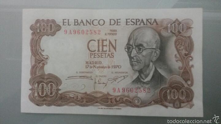 100 PESETAS 1970 FALLA SERIE 9A EBC+ (Numismática - Notafilia - Billetes Españoles)