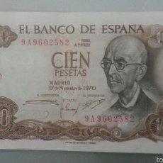 Banconote spagnole: 100 PESETAS 1970 FALLA SERIE 9A EBC+. Lote 57402348