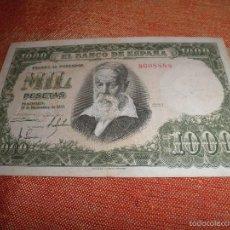 Billetes españoles: BILLETE MIL PESETAS 1951. SIN SERIE.. Lote 57820150