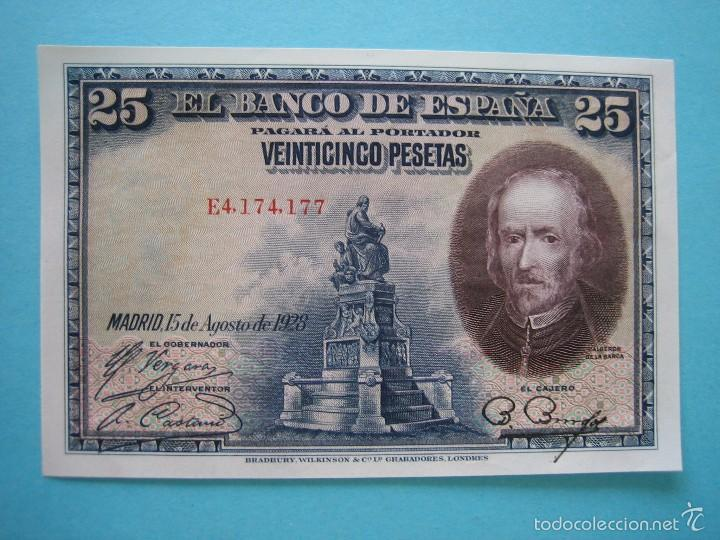 BILLETE - 25 PESETAS 15 AGOSTO 1928 - SERIE E - SIN CIRCULAR - PLANCHA (Numismática - Notafilia - Billetes Españoles)