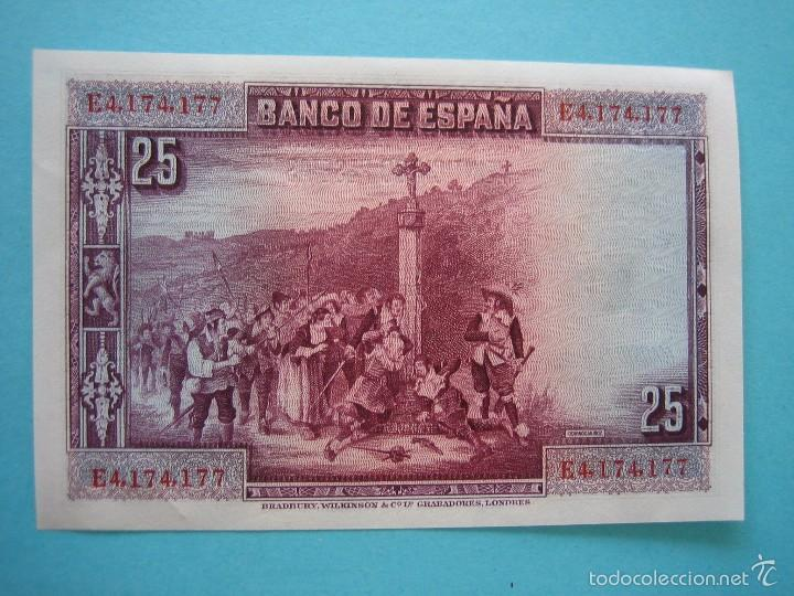 Billetes españoles: BILLETE - 25 PESETAS 15 AGOSTO 1928 - SERIE E - SIN CIRCULAR - PLANCHA - Foto 2 - 58241198