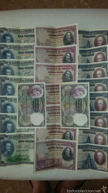 Billetes españoles: Lote Billetes 1925. - Foto 2 - 58497205