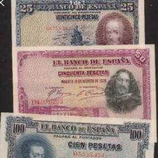 Billetes españoles: LOTE 4 BILLETES DEL ESTADO ESPAÑOL 1925 / 1928 RAROS REF 8357. Lote 90449225