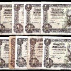 Billetes españoles: 11 BILLETES 1 PESETA 1951 (1) SIN SERIE MBC-/EBC-. Lote 58628596