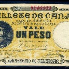 Billetes españoles: 1 PESO DE PUERTO RICO 1895 - SIN CIRCULAR. Lote 177208249