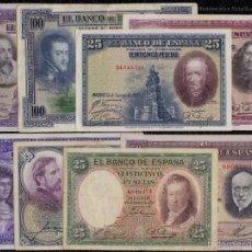 Billetes españoles: LOTE 8 BILLETES DEL ESTADO ESPAÑOL 1925 / 1935 RAROS REF 5326. Lote 98484148
