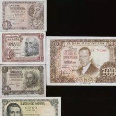 Billetes españoles: LOTE 6 BILLETES DEL ESTADO ESPAÑOL 1948 / 1954 RARO REF 64368. Lote 98486247