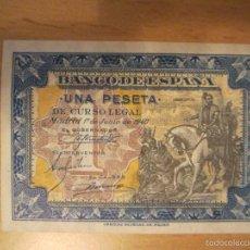Billetes españoles: 1 PESETA DE 1940 DE JUNIO SERIE E-932 SIN CIRCULAR-. Lote 59723039