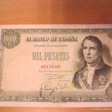 Billetes españoles: 1000 PESETAS DE 1949 R. SANTILLAN SIN SERIE-197 MUY BIEN CONSERVADO RARO. Lote 60082151